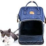 猫用きゃりーバッグ リュック型 ペットバッグ 小型犬 小動物 スリング 2way 散歩用 軽量 人気 ネイビー WinSun