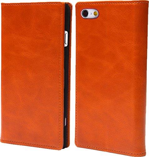 steady advance 最高級 本革 (牛革) iPhone6 iPhone6s アイフォン6 用 スマホ ケース 手帳型  硬度 9H 強化 ガラスフィルム  セット マグネット式 ソフトレザー (iPhone 6s, キャラメル)