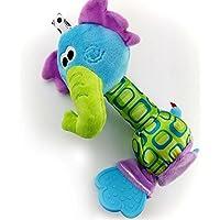 HuaQingPiJu-JP 1PCベビーキッズクリエイティブソフトぬいぐるみラトル教育玩具ハンド玩具(象)