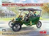 ICM 1/24 T型フォード 1911 ツーリング w/フィギュア プラモデル 24025