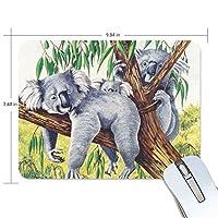 マウスパッド かわいい コアラ 木 疲労低減 ゲーミングマウスパッド 9 X 25 厚い 耐久性が良い 滑り止めゴム底 滑りやすい表面
