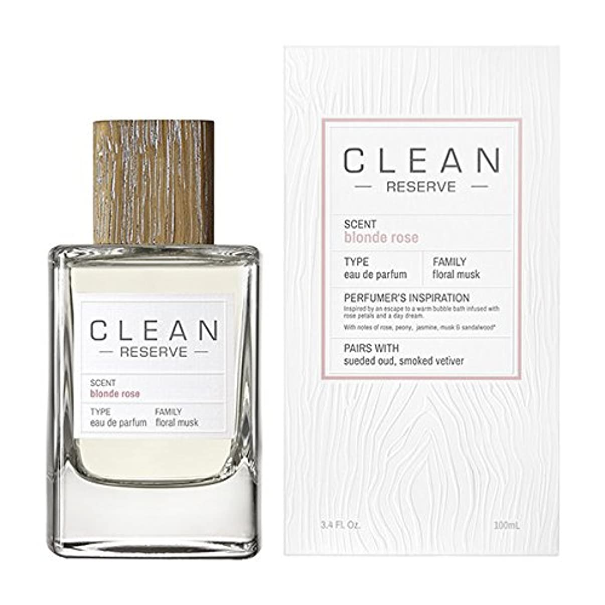 固めるブレーキキャラクター◆【CLEAN】Unisex香水◆クリーン リザーブ ブロンドローズ オードパルファムEDP 100ml◆
