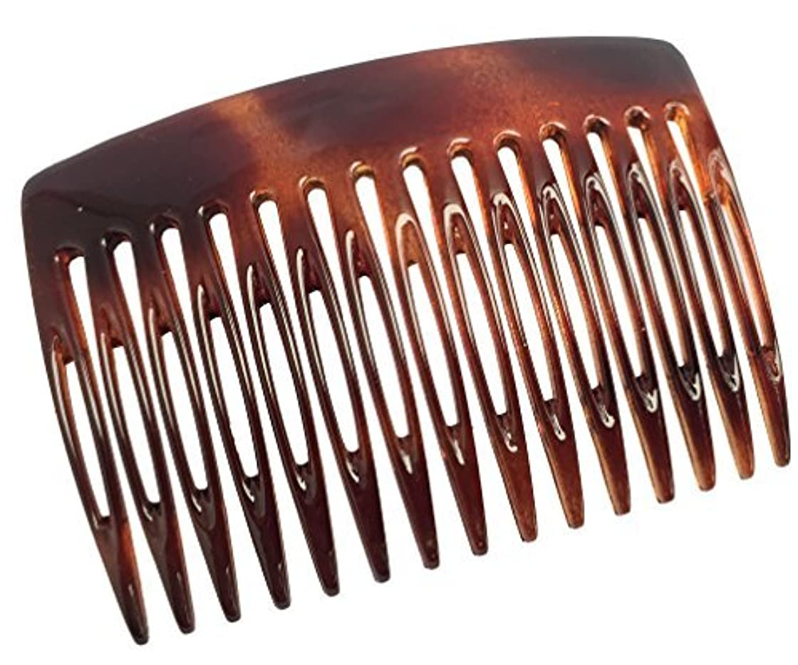 ベテラン保存あなたのものParcelona French Nice N Simple 2 Pieces Cellulose Tortoise Shell 7 Cm Side Hair Comb Combs [並行輸入品]