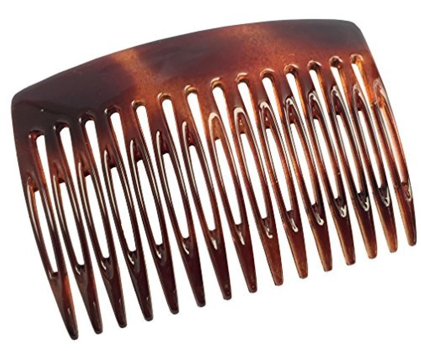 社説豚肉コースParcelona French Nice N Simple 2 Pieces Cellulose Tortoise Shell 7 Cm Side Hair Comb Combs [並行輸入品]