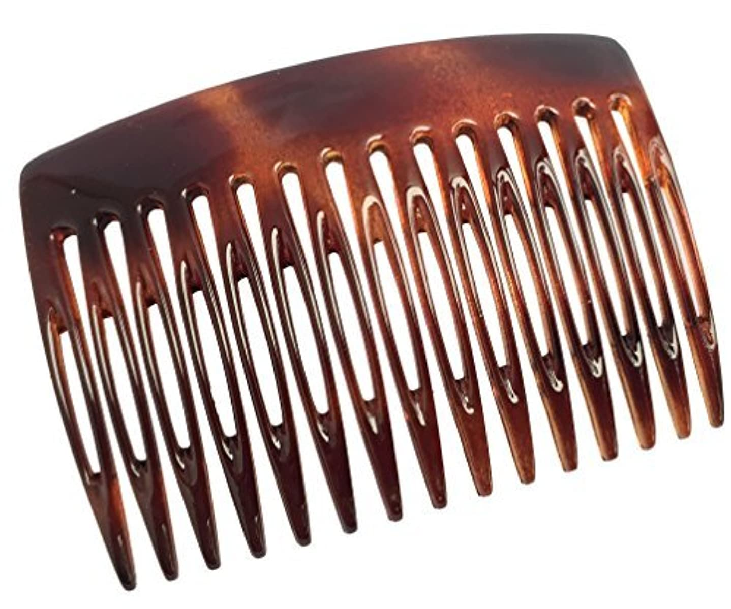 避難アニメーションマイクParcelona French Nice N Simple 2 Pieces Cellulose Tortoise Shell 7 Cm Side Hair Comb Combs [並行輸入品]