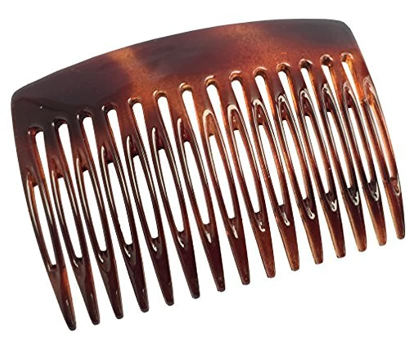 Parcelona French Nice N Simple 2 Pieces Cellulose Tortoise Shell 7 Cm Side Hair Comb Combs [並行輸入品]