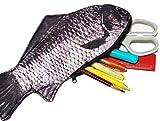 Sasuga リアル プリント 魚 ペンケース ポーチ 筆箱 おもしろ 小物入れ (鯉)