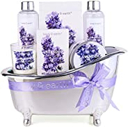 Spa Gifts for Women,Body & Earth Lavender Scented , Gifts Set for Women ,7 Pcs Spa Gift with Shower Gel, B