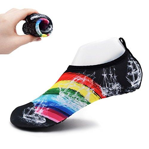 [해외]Sobotoo 마린 슈즈 초경량 휴대 가능한 워터 슈즈 수륙 양용 착용감이 좋은 아쿠아 슈즈 미끄럼 방지 기능 속건 비치 샌들 남녀 겸용/Sobotoo Marine shoes Ultra lightweight portable shoes Water shoes Amphibious good fit Aqua shoes with a fi...