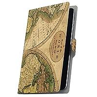 タブレット 手帳型 タブレットケース タブレットカバー カバー レザー ケース 手帳タイプ フリップ ダイアリー 二つ折り 革 世界 地図 006044 ASUS ZenPad 10 Z301MFL ASUS エイスース・アスース ZenPad ゼンパッド z301mflz10 z301mflz10-006044-tb