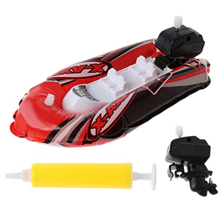 Yziss 赤ちゃん用おもちゃ 子供用 時計仕掛け風 膨らませるボート船 遊び 水 バスルーム お風呂 おもちゃ 時計遊び おもちゃ 子供用 教育 水遊び おもちゃ