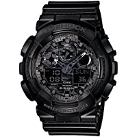 G-SHOCK Men's GA100CF-1A Year-Round Analog-Digital Automatic Black Watch