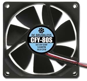 アイネックス ケース用ファン80mm 静音タイプ CFY-80S