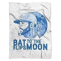 500レベル's Jose Bautistaソフト、温かいフリースブランケットfor Toronto野球ファン–Jose Bautista Moon B ホワイト