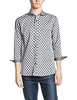 (メンズメルローズ) MEN'S MELROSE シャンブレーチドリ7分袖シャツ