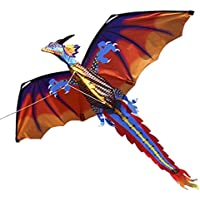 Lixada 140 cm x 120 CM / 55 x 47インチDragon Kite Single Line Flying Kite With Tail 100 M Flyingライン子供大人
