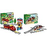 レゴ(LEGO)デュプロ キミが車掌さん! おしてGO機関車デラックス 10874 & レゴ(LEGO) デュプロ あそびが広がる! 鉄道橋とレールセット 10872 知育玩具 ブロック おもちゃ 男の子 電車【セット買い】