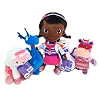 DOC McSTUFFINS Set 5 STUFFY LAMBIE CHILLY HALLIE Plush DISNEY JR figure dolls [並行輸入品]