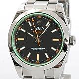 [ロレックス] ROLEX ミルガウス ウォッチ 腕時計 メンズ ブラック ステンレススチール(SS) 116400GV [中古]