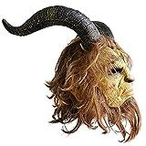 【Log Total】 大迫力! 美女と野獣 ビューティーアンドビーストマスク 仮面 コスプレ 野獣 王子様 ハロウィン衣装 野獣のマスク