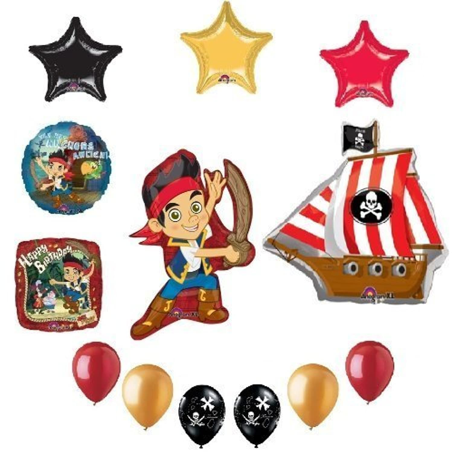 JAKE and the NEVER Land PIRATES 13 Birthday Party Supplies Mylar Latex BALLOONS by Lgp [並行輸入品]
