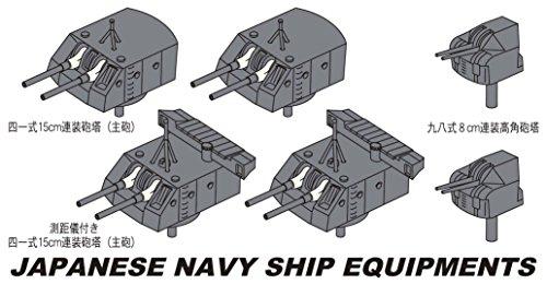 ハセガワ 1/350 日本海軍 日本海軍 艦船装備 E 軽巡洋艦 阿賀野型 15cm連装砲塔 プラモデル 40089