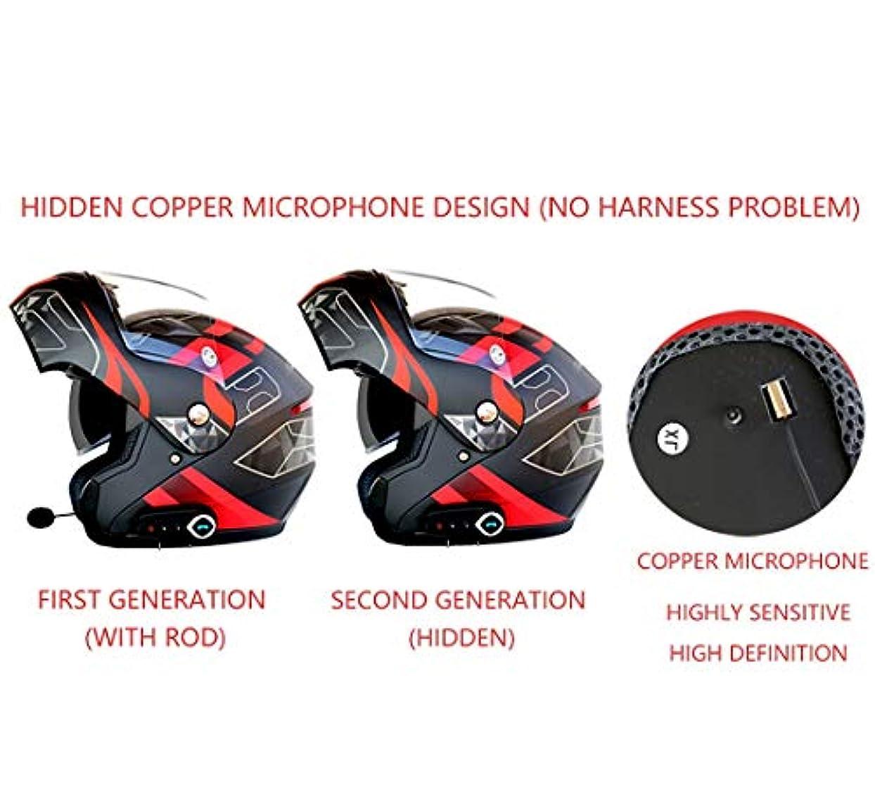 米ドル品種に頼るTOMSSL高品質 男性と女性四季普遍的な防曇二重レンズオートバイのbluetoothヘルメット電動オートバイのヘルメット快適な通気性の多色パターン TOMSSL高品質 (Color : Black, Size : XXL)