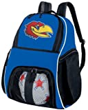 おもちゃ Kansas Ball Backpack Blue KU Jayhawks Soccer Ball Bag Basketball Backpacks Official NCAA College Logo スポーツ アウトドア [並行輸入品]