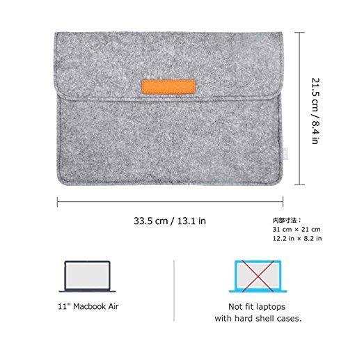 Inateck 11Inch インナーケースMacBook Air/ウルトラブック/ネットブック用 プロテクターケース [寸法: 11インチ, カラー: グレー]