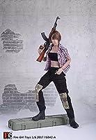 1/6 女性 シャツ+ベスト+パンツ チェックシャツ 衣装 フィギュア アクセサリー 12インチ ボディおもちゃ用 PHICEN 1/6 素体 (NO.2)