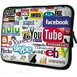 人気ロゴ柄大集合 ノートPC Mac タブレット スリーブ 防水 インナー ケース かわいい バッグ メンズ レディース (13inch(32.5cm×24.5cm×2cm))