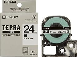 キングジム テープカートリッジ テプラPRO 24mm SS24K 白