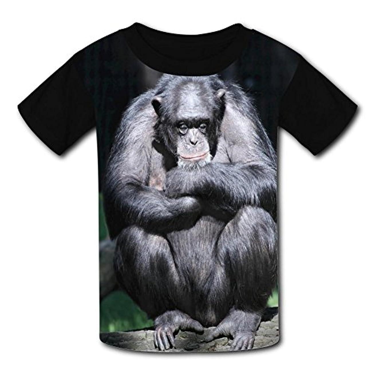 究極のバングブラシ悲しいゴリラ 3Dプリント 個性 Tシャツ 男女兼用 カジュアル 半袖 T Shirt