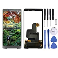 Digitizer Full Assembly replacement Sony Xperia XZ2 Compact(シルバー)用の交換用LCDスクリーン+タッチスクリーンデジタイザーアセンブリ (色 : Silver)