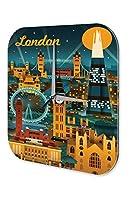 壁時計 wall clock Retro Wall Art Metropole London Plexiglass