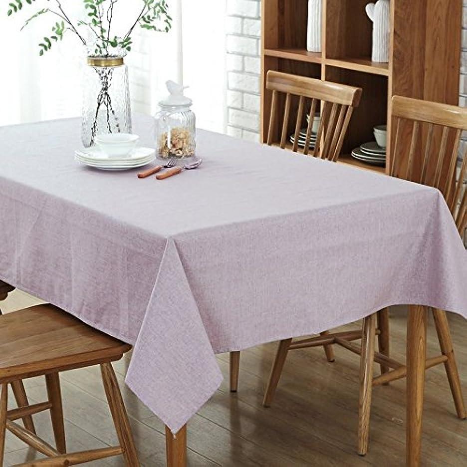 ためらう出版フォーマルgardenlightess テーブルクロス 綿麻 撥水加工 無地 長方形 130x180cm