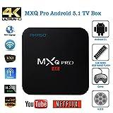AKASO MXQ Pro 4K アンドロイド TV ボックス Android 5.1 HDMI 2.0 Amlogic S905 クアッドコア 1G/8G KODI Google スマート TVチューナー