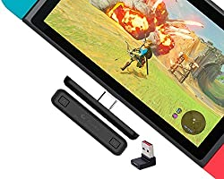 Gulikit Route Air Switch Bluetooth Adapter Wireless Audio Transmitter w/APTX Low Latency Compatible with Nintendo Switch...