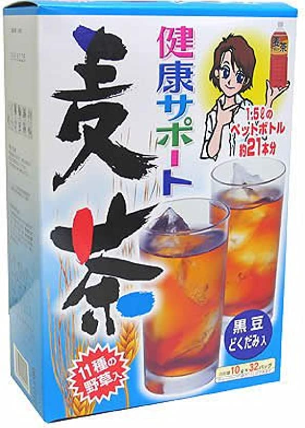 バックグラウンド争うわずかな山本漢方製薬 健康サポート麦茶 10gX28H
