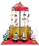 雛人形 コンパクト 『卓上ミニ輪飾り わらべ雛』 親王飾り/吊るし雛