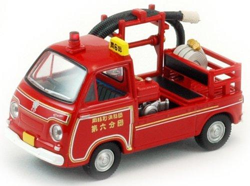 トミカリミテッドヴィンテージ TLV-68a スバルサンバーポンプ消防車 (岡部町消防団第六分団)