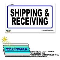 配送と受信青 - ×6で12で - ラミネート符号ウィンドウビジネスステッカー