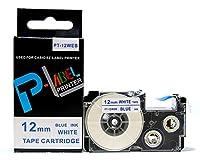 カシオ ネームランド用 互換 テープカートリッジ 12mm XR-12WEB 白地青文字