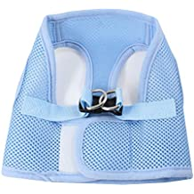 uxcell Sky Blue Meshy Release Buckle Pet Dog Cat Puppy Harness Vest Size S