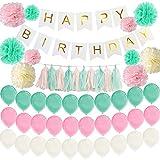 お誕生日 飾り付け 誕生日祝い HAPPY BIRTHDAY パーティー デコレーション セット (マカロンカラー)