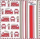 Miyamoto-Towel 子供ハンカチ acchicocchi 消防車 15×15cm 2752