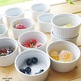 白い食器 オーブンスフレココット 12個セット グラタン