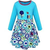 Zorkomr Kids Girl Dress Cotton Casual Cartoon Cute Dresses for Girls