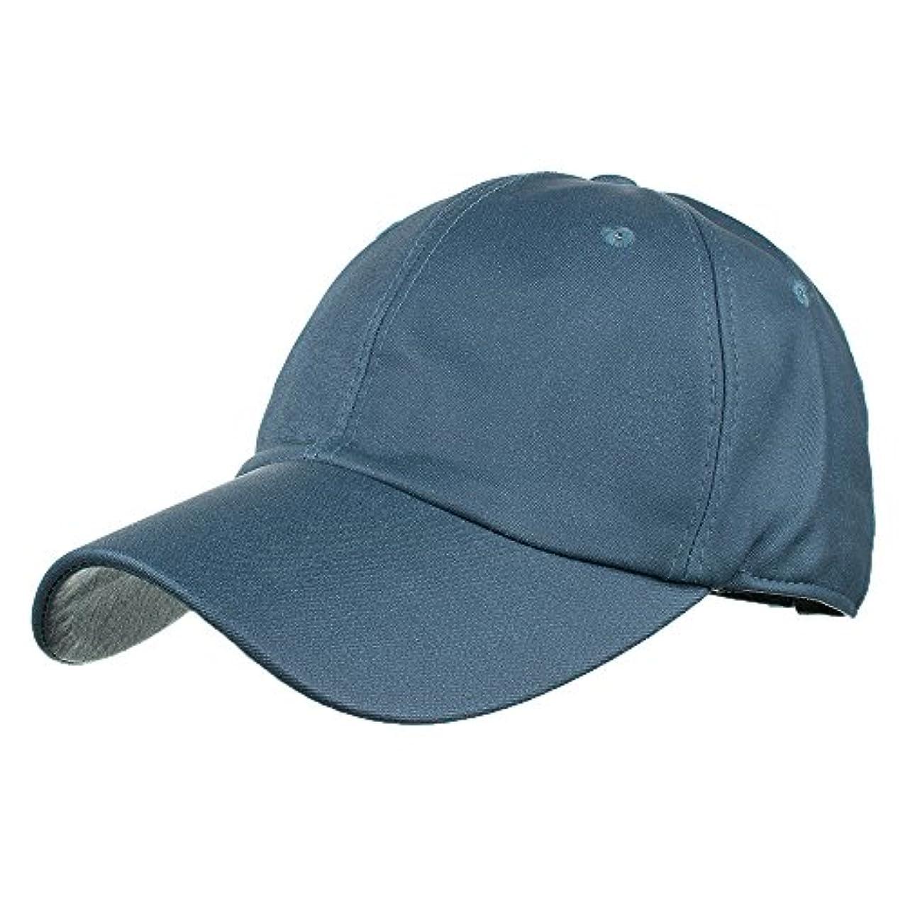 彼女カナダ十分ですRacazing Cap PU 無地 ヒップホップ 野球帽 通気性のある 帽子 夏 登山 可調整可能 棒球帽 UV 帽子 軽量 屋外 Unisex Hat (紺)