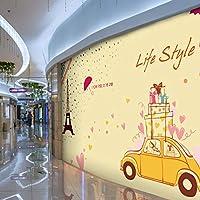 Wuyyii 写真の壁紙ファッション都市のテーマ3Dステレオ壁紙モール衣料品店の壁紙女の子寝室の背景壁画壁紙A
